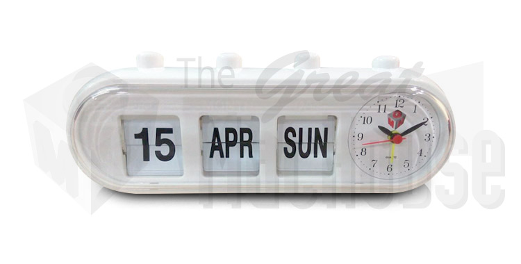 Other Home Dcor Clocks White GMH Retro Capsule Manual Alarm Clock ...