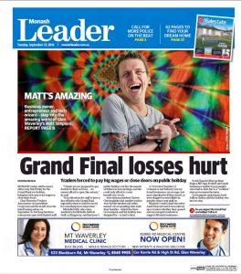 Monash Leader Cover - Matthew Simpson